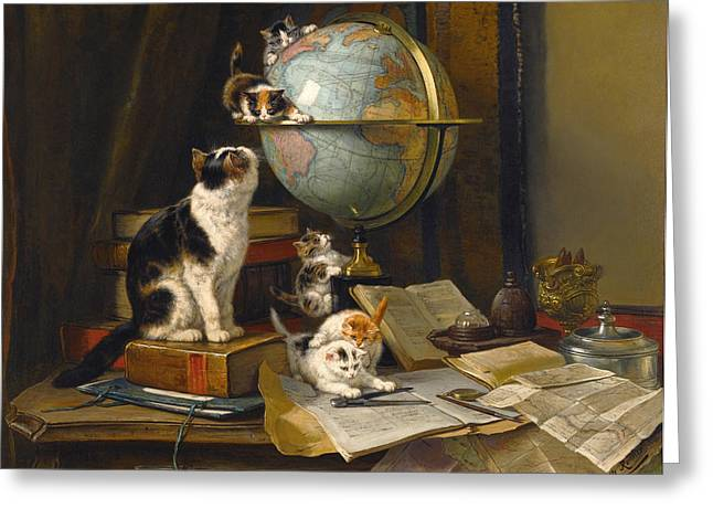 Henriette Greeting Cards - The Globertrotters Greeting Card by Henriette Ronner-Knip