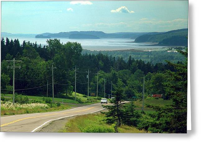 Minas Basin Greeting Cards - The Glooscap Trail  Greeting Card by Janet Ashworth