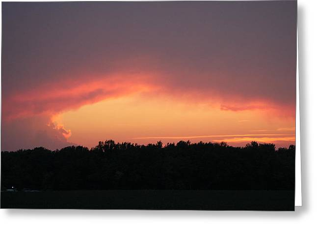 Sunset After A Storm Greeting Cards - The Glory Greeting Card by Earl  Eells a