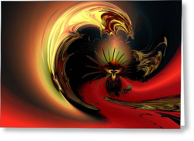 Abstract Colorful Algorithmic Digital Contemporary Greeting Cards - The glory of his eminance Greeting Card by Claude McCoy