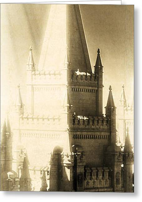 Temples Greeting Cards - The Glory of the Lord Shone Round About Greeting Card by Greg Collins