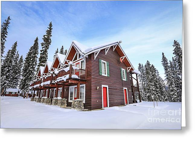 Lake Louise Greeting Cards - The Glory Of Winters Chill Greeting Card by Evelina Kremsdorf