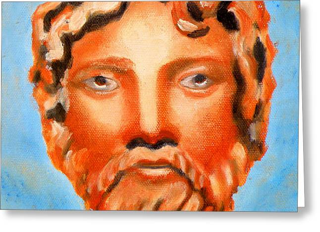 The God Jupiter or Zeus.  Greeting Card by Augusta Stylianou