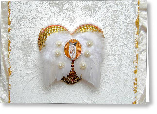 Shine Reliefs Greeting Cards - The goddess of the golden temple Greeting Card by Heidi Sieber