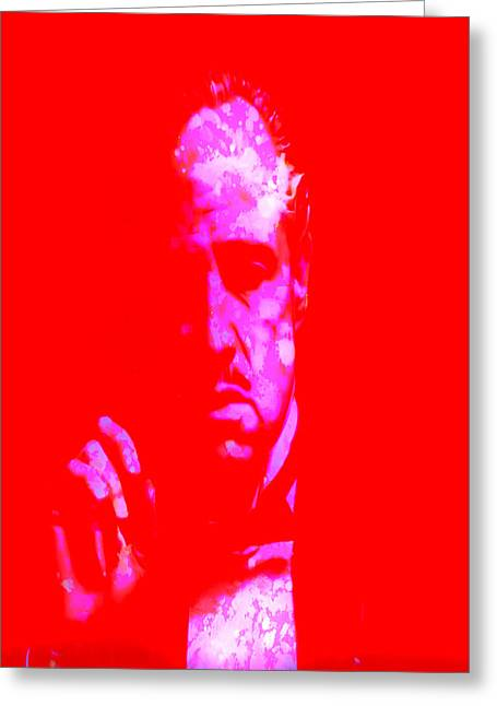 Richard Conte Greeting Cards - The Godfather 3j Greeting Card by Brian Reaves
