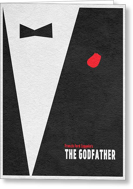 Marlon Brando Poster Greeting Cards - The Godfather Greeting Card by Ayse Deniz