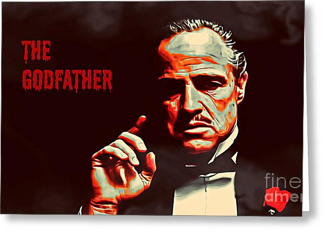 Don Vito Corleone Greeting Cards - The Godfather Greeting Card by Binka Kirova
