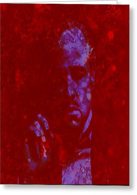 John Marley Greeting Cards - The Godfather  Greeting Card by Brian Reaves