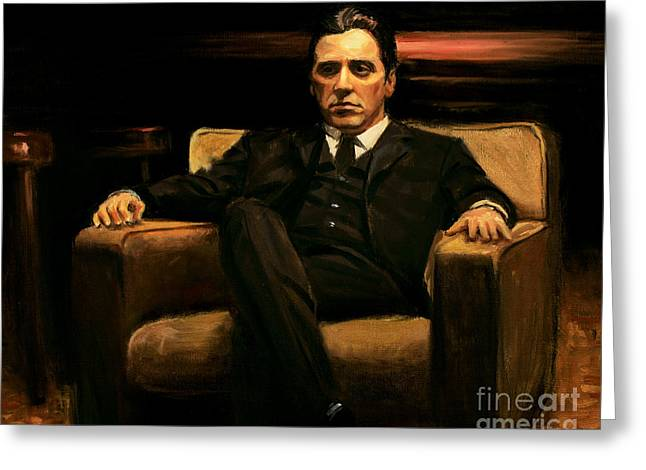 Goodfellas Greeting Cards - The Godfather Greeting Card by Christopher Panza