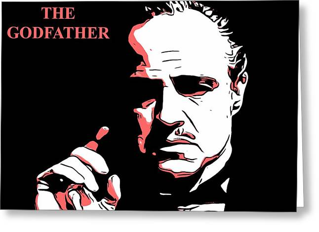 Marlon Brando Poster Greeting Cards - The Godfather Greeting Card by Dan Sproul
