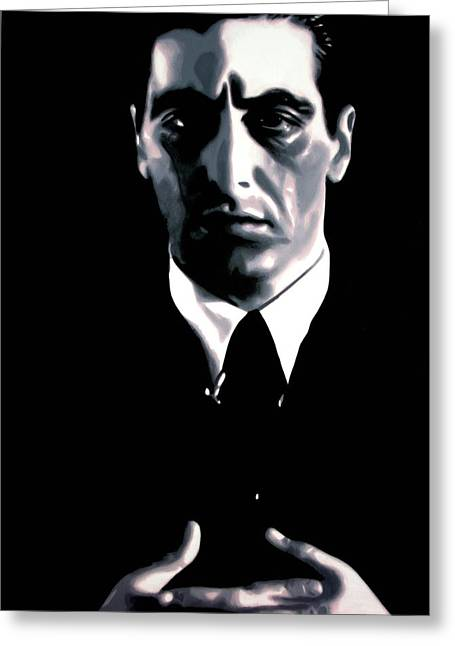 John Marley Greeting Cards - The Godfather Greeting Card by Luis Ludzska