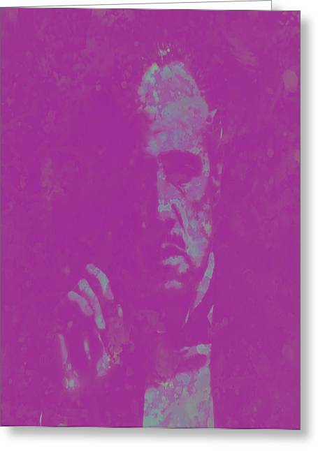 John Marley Greeting Cards - The Godfather Marlon Brando Greeting Card by Brian Reaves