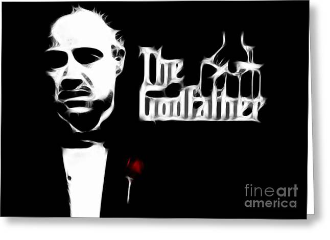 Richard S. Castellano Greeting Cards - The Godfather Greeting Card by Michael Braham