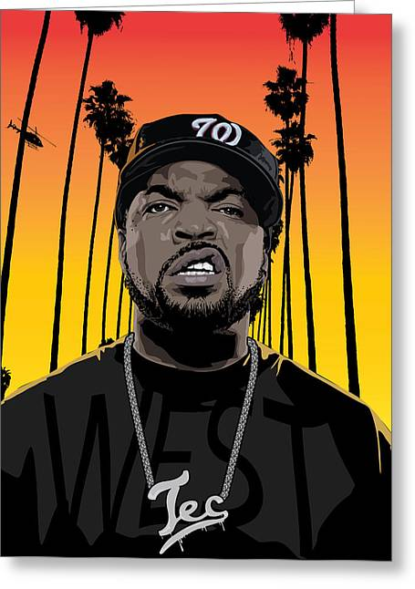 Rnb Greeting Cards - The Godfather of Gangsta Rap Greeting Card by Tecnificent