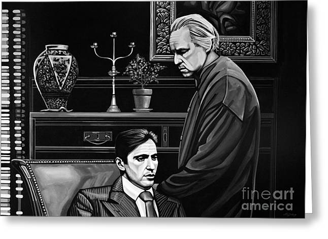 Scarface Greeting Cards - The Godfather  Greeting Card by Paul Meijering