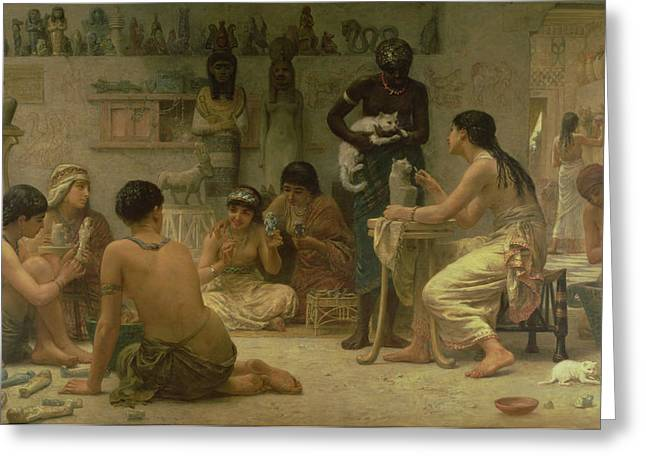 Sculptors Greeting Cards - The Gods And Their Makers, 1878 Greeting Card by Edwin Longsden Long