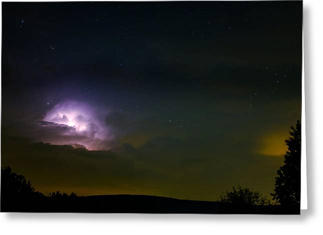 Lightning Photographs Greeting Cards - The Gods at play Greeting Card by Chris Bordeleau