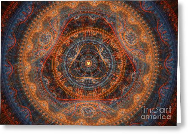 Abstract Geometric Greeting Cards - The Gods eye Greeting Card by Martin Capek