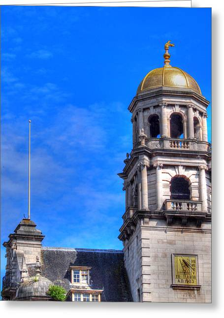 The Gold Dome Greeting Card by Susan Tinsley