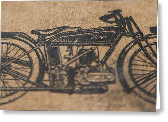 Owner Greeting Cards - The Gold Medal Motorcycle 1925 Greeting Card by Robert Phelan