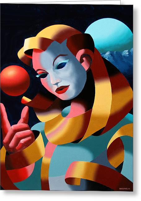 Spheres Paintings Greeting Cards - The Golden Age 1 Greeting Card by Mark Webster