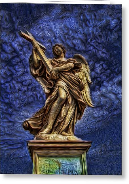 Seraphim Angel Photographs Greeting Cards - The Golden Angel Greeting Card by Lee Dos Santos