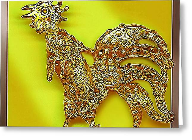 Golden Jewelry Greeting Cards - The  Golden  Bird Greeting Card by Hartmut Jager