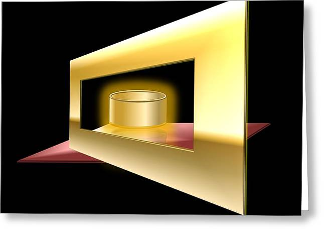 The Golden Can Greeting Card by Cyril Maza