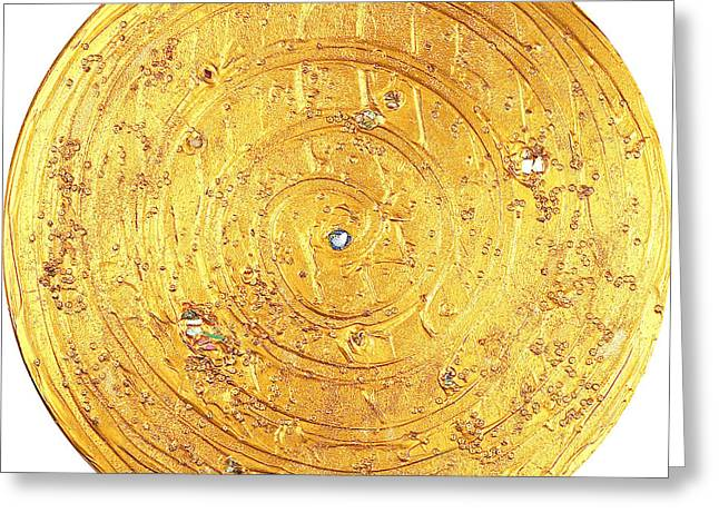 Color Reliefs Greeting Cards - The golden flow centered Greeting Card by Heidi Sieber