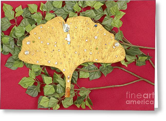 Color Reliefs Greeting Cards - The golden flow of healing Greeting Card by Heidi Sieber
