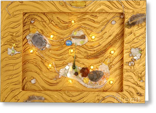 Stone Reliefs Greeting Cards - The golden flow of light Greeting Card by Heidi Sieber