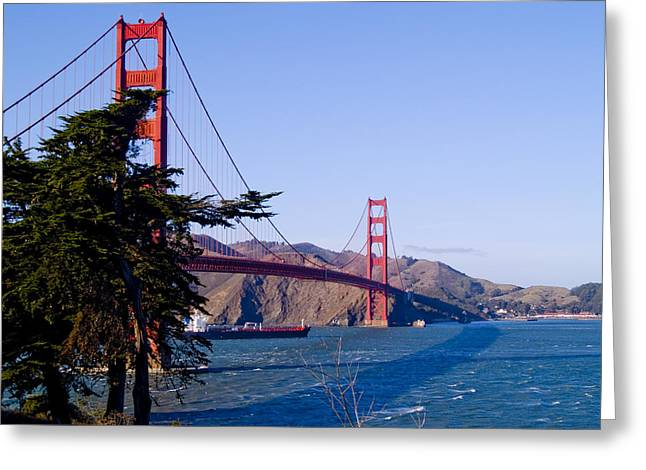 Bay Bridge Greeting Cards - The Golden Gate Greeting Card by Bill Gallagher