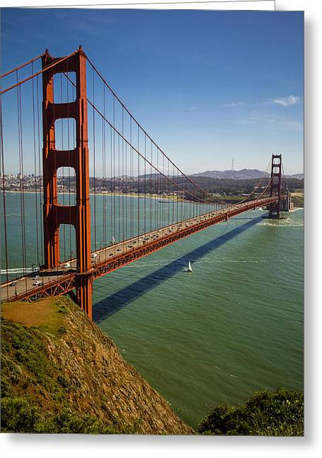 Outdoors.color Greeting Cards - The Golden Gate Bridge 2 Greeting Card by Garry Gay