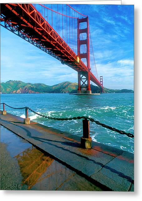 The Golden Gate Bridge And The Entrance Greeting Card by John Alves