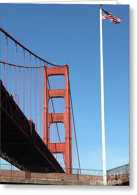Frisco Pier Greeting Cards - The Golden Gate Bridge at Fort Point 5D21564 Greeting Card by Wingsdomain Art and Photography
