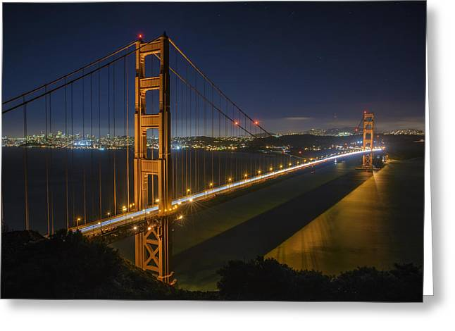 San Francisco Bay Bridge Greeting Cards - The Golden Gate Bridge Greeting Card by Rick Berk