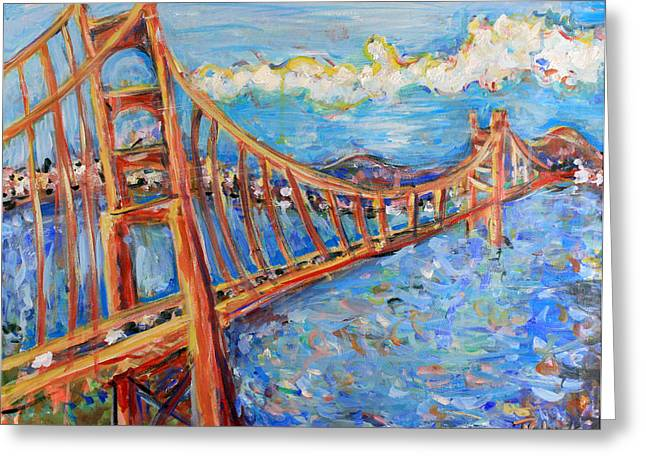 Union Square Paintings Greeting Cards - The Golden Gate Greeting Card by Jason Gluskin