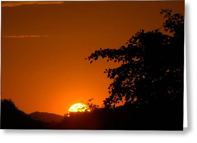 Sunset Framed Prints Mixed Media Greeting Cards - My Golden Hour Greeting Card by Beverly Guilliams