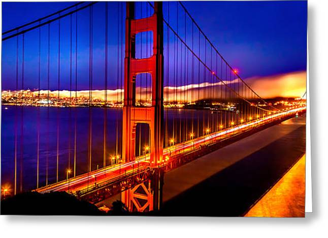 San Francisco Bay Bridge Greeting Cards - The Golden Path Greeting Card by Az Jackson