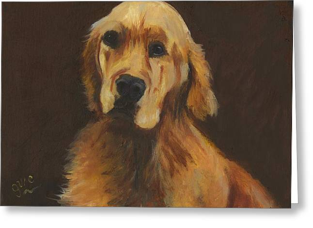 Best Friend Greeting Cards - The Golden Retriever Greeting Card by Gloria Condon