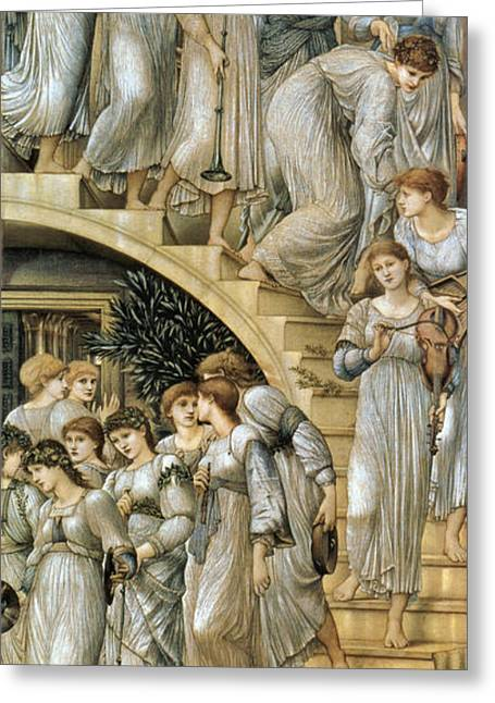 Second Lady Greeting Cards - The Golden Stairs Greeting Card by Edward Burne Jones