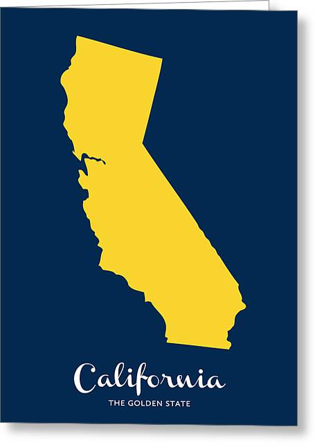 So Cal Greeting Cards - The Golden State Greeting Card by Nancy Ingersoll