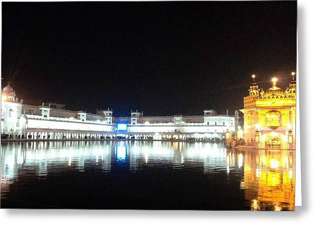 The Golden Temple Greeting Card by Jyoti Vats
