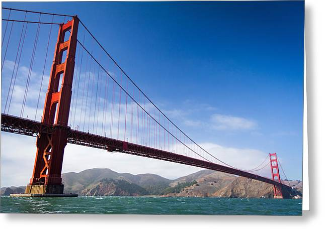Sight Seeing San Francisco Greeting Cards - The Golden Towers Greeting Card by Hugh Stickney