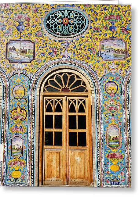 Tehran Greeting Cards - The Golestan Palace in Tehran Iran Greeting Card by Robert Preston