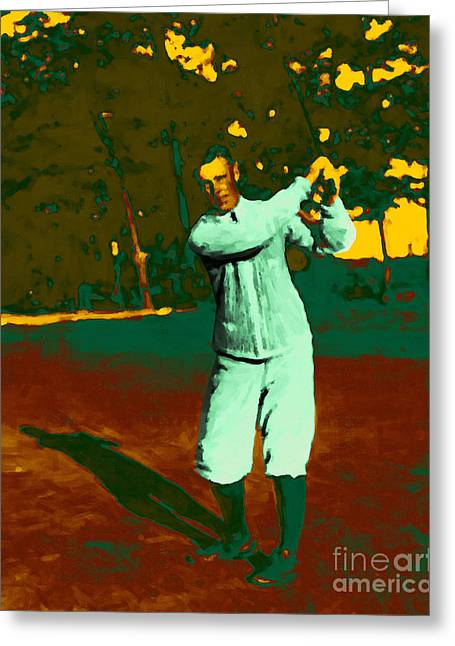 Champs Digital Art Greeting Cards - The Golfer - 20130208 Greeting Card by Wingsdomain Art and Photography