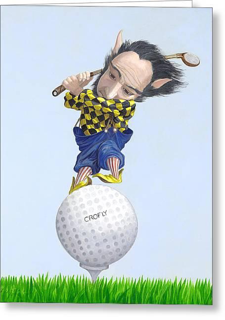 Leonard Filgate Greeting Cards - The Golfer Greeting Card by Leonard Filgate