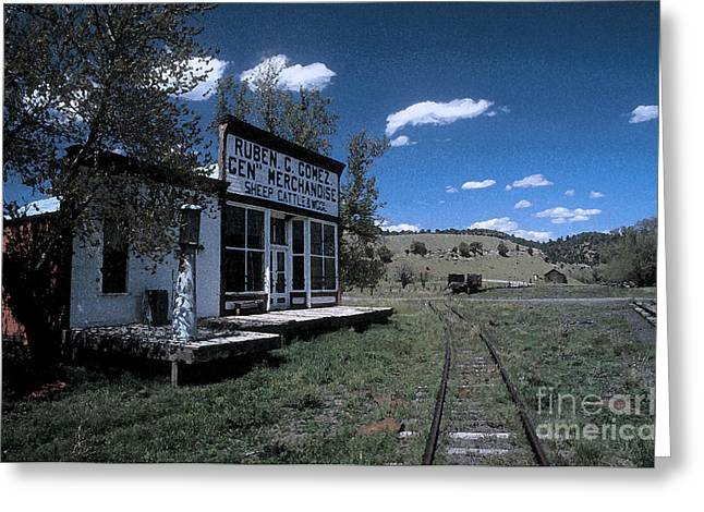 False Front Greeting Cards - The Gomez General Store Greeting Card by Jerry McElroy