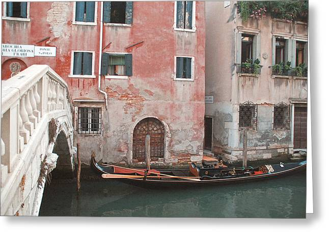 Travel Photographs Greeting Cards - The Gondola Greeting Card by Nastasia Cook