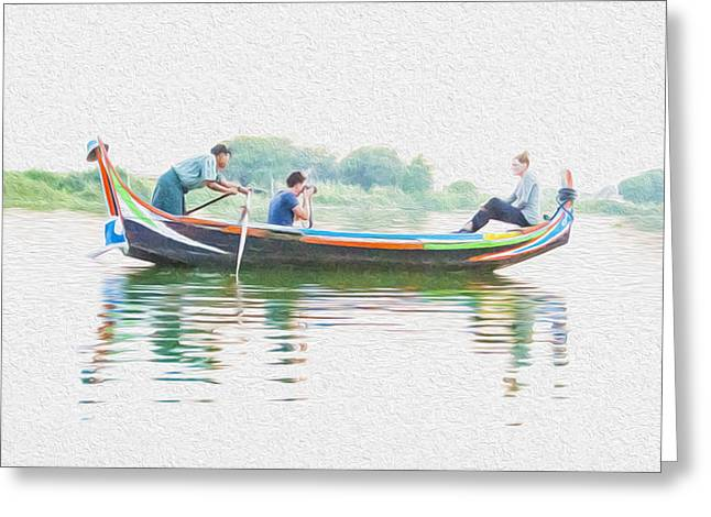 Opt Greeting Cards - The Gondola Ride Greeting Card by Nichon Thorstrom